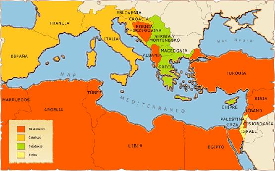 Mapa Del Mar Mediterraneo.Clases De Historia Civilizaciones En Torno Al Mar Mediterraneo