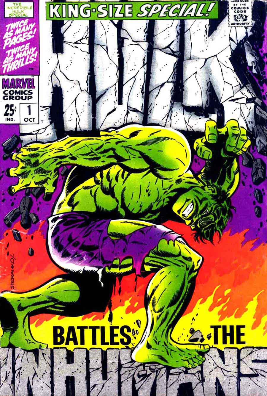 Incredible Hulk v2 annual #1 marvel comic book cover art by Jim Steranko