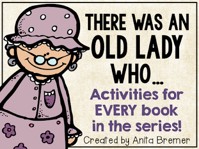 Activity pack for EVERY 'There Was An Old Lady Who Swallowed' book in the series!