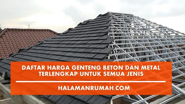 Harga Genteng Beton