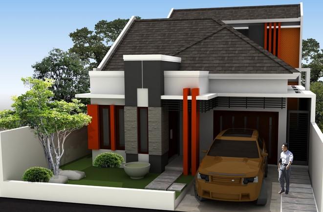 Gambar Taman dan Teras Rumah Minimalis type 45