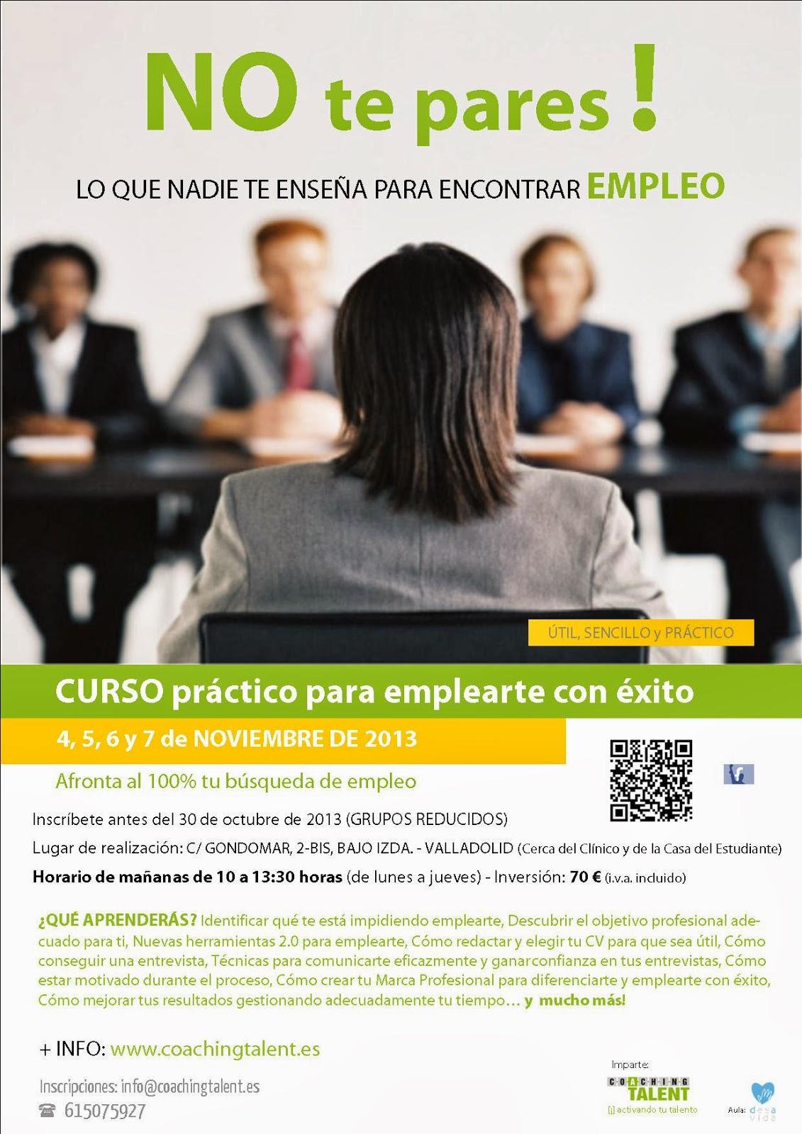 Espacio Joven De Valladolid Curso Práctico Para Emplearte Con éxito