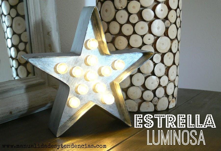 Estrella luminosa diy