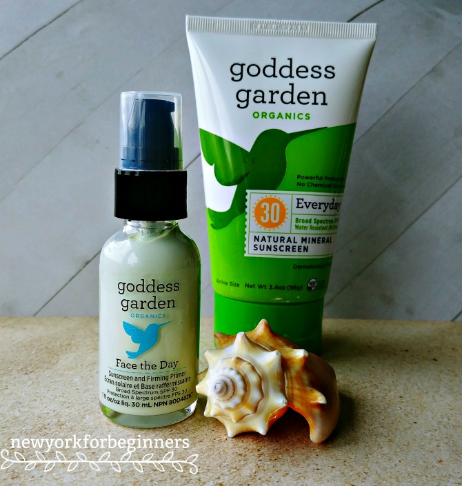 Goddess Garden Organics sunscreen and primer review at www.newyorkforbeginners.com