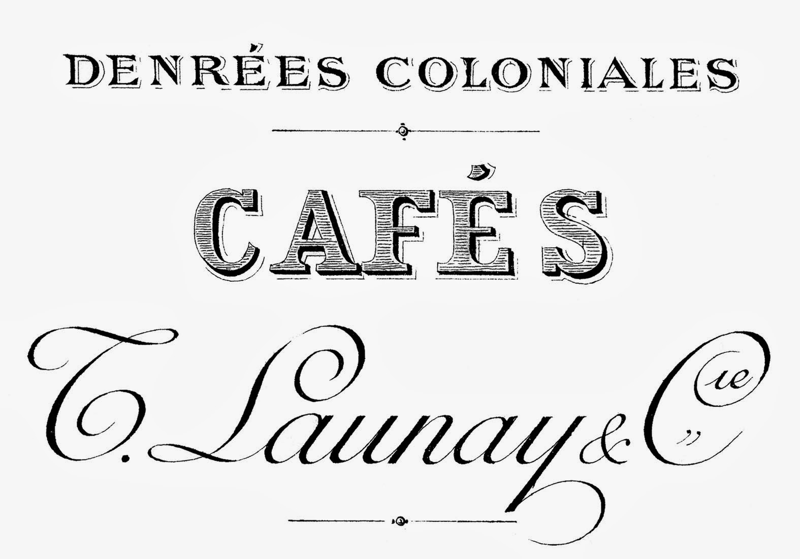 Vintage French Cafe Sign