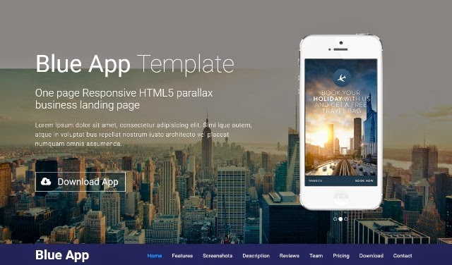 Blue App Business Landing Page Template