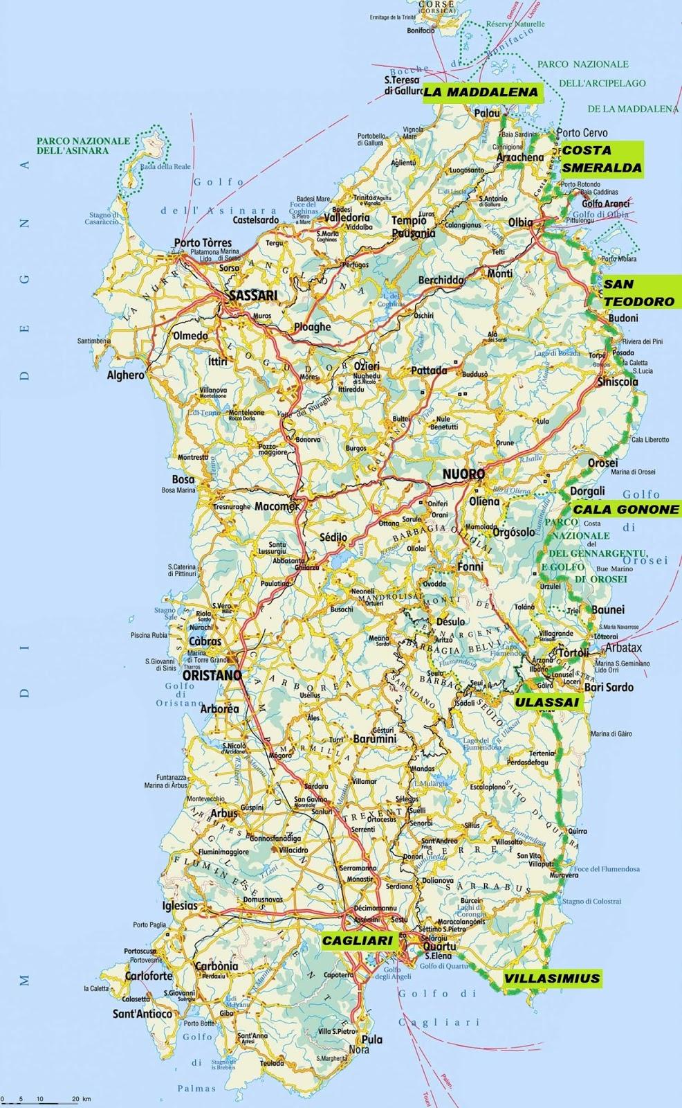 mapa sardenha vento no cabelo: sardegna: where to mapa sardenha