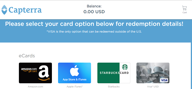 Reward card provided by capterra