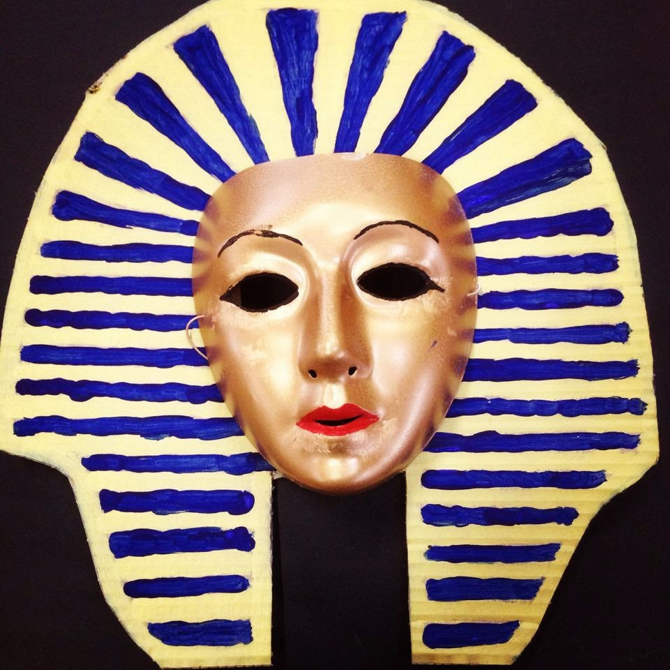 Egyptian death mask images galleries for Egyptian masks templates