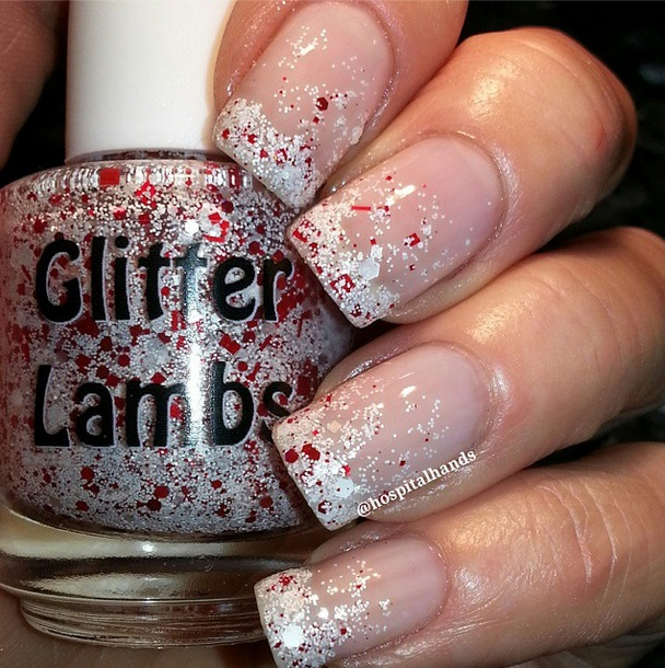 Christmas glitter topper nail polish for the holiday season! Candy cane nail polishes that would look incredibly cute on your nails!
