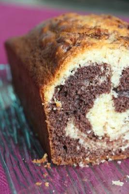 Cake marbré vanille-chocolat
