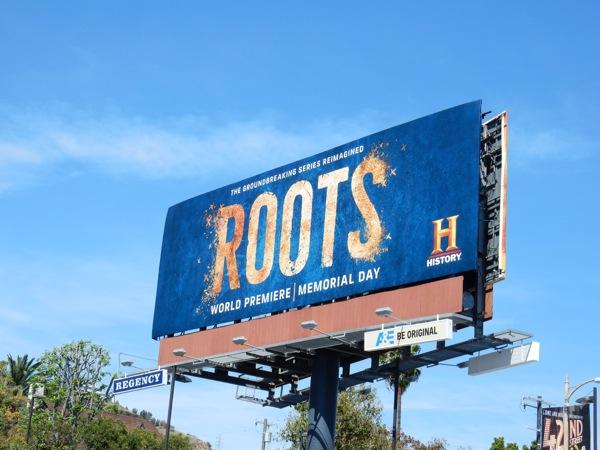 Roots TV remake teaser billboard