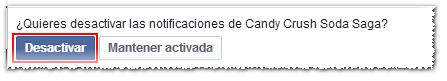Desactivar notificaciones a jugar en Facebook - MasFB