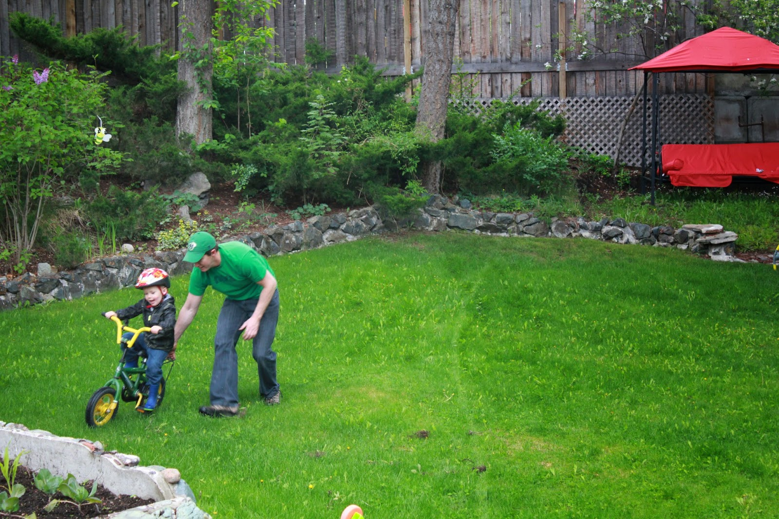 the family backyard upgrading with a swing u0026 spin simple on