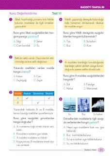 5. Sınıf Fen Bilimleri Ders Kitabı Cevapları Ada Sayfa 65