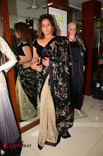 Actress Neetu Chandra Stills in Black Saree at Designer Sandhya Singh's Store Launch  0059.jpg