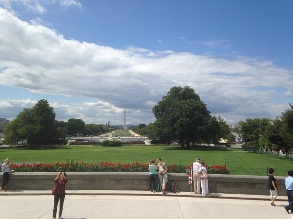 Blick auf The Mall und das Washington Monument vom Captiol aus
