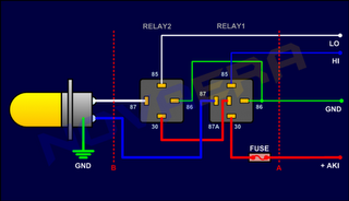 skema-relay-lampu-dc+2 H Harness Wiring Diagram on