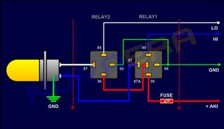 Memasang Relay untuk Lampu BYSONFZSeries