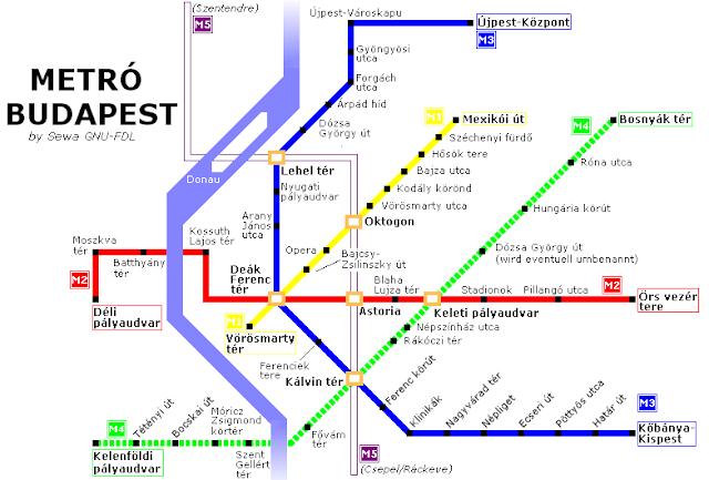 Budapeste subway map