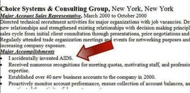28 Funny Resume Examples Pics Photos Resume Samples Funny 1