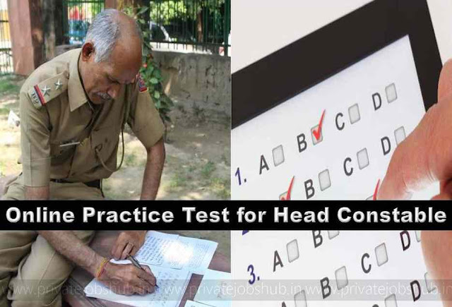 Online Practice Test for Head Constable