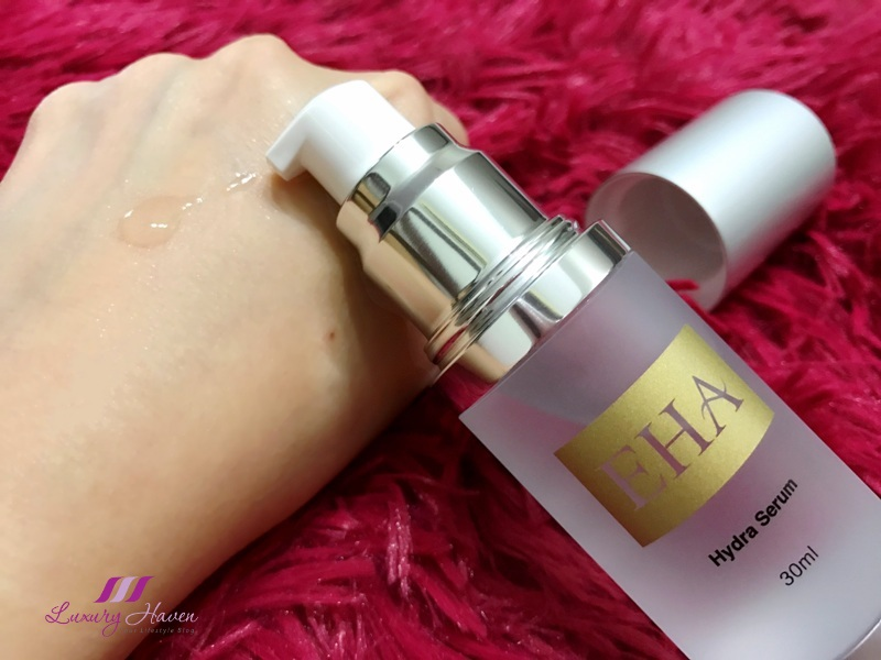 singapore beauty blogger reviews eha hydra serum