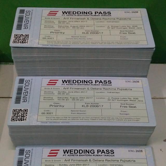 Undangan Pernikahan Bentuk Tiket Kereta Api