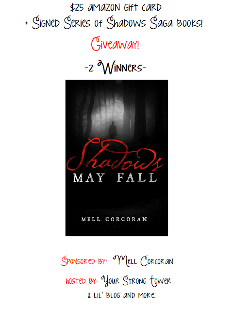 Enter the  Amazon Gift Card & Shadows May Fall Giveaway. Ends 6/27