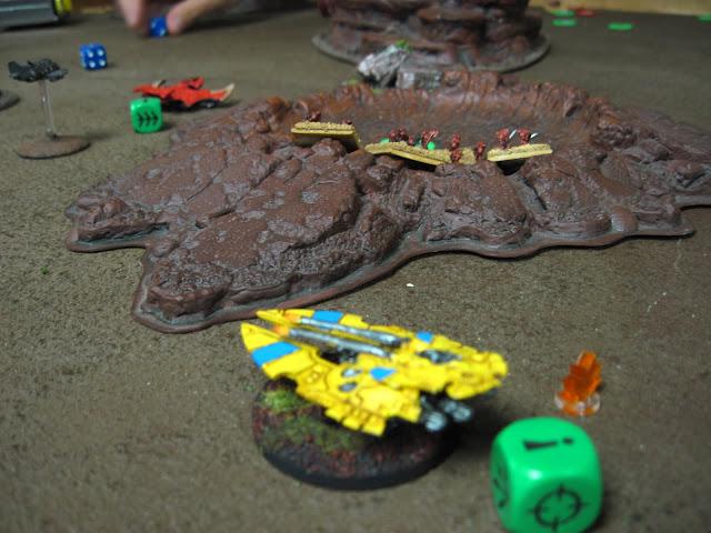 Rob's Raven Guard take on Kal's Eldar.