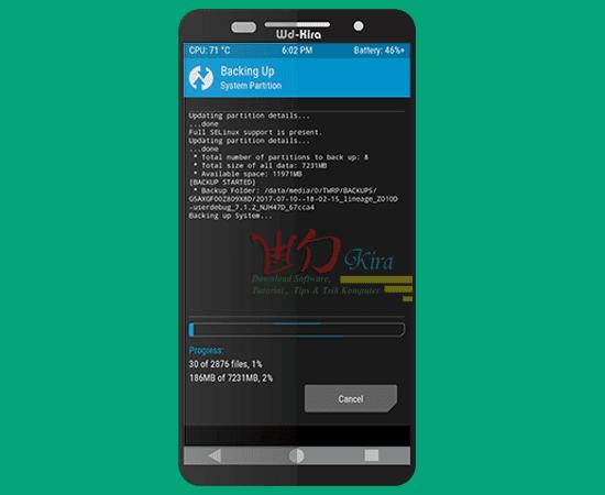 wd-kira, how to backup rom android, cara mencadangkan rom android secara penuh, cara backup firmware android beserta data-datanya, cara mudah backup dan restore android tanpa pc