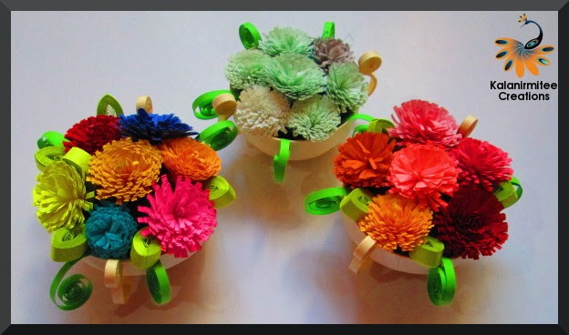 kalanirmitee:paper quilling- 3D quilling- quilled miniature- quilled basket