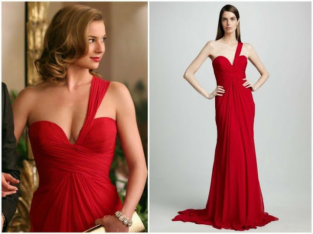 Emily VanCamp in Pamella Roland - Seen on 'Revenge'
