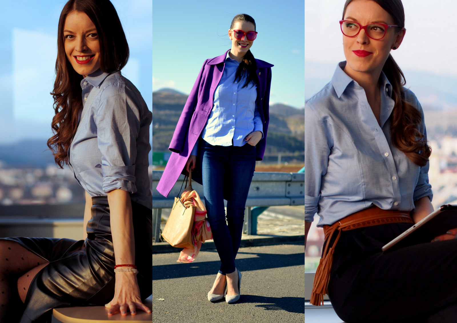 3 outfity & 1 košeľa  // three outfits with one shirt