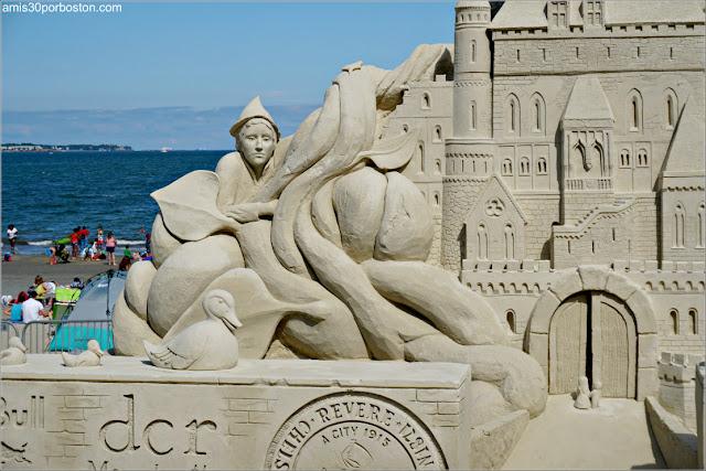"""""""Jack y las habichuelas mágicas"""" en el Festival de Esculturas de la Playa de Revere"""