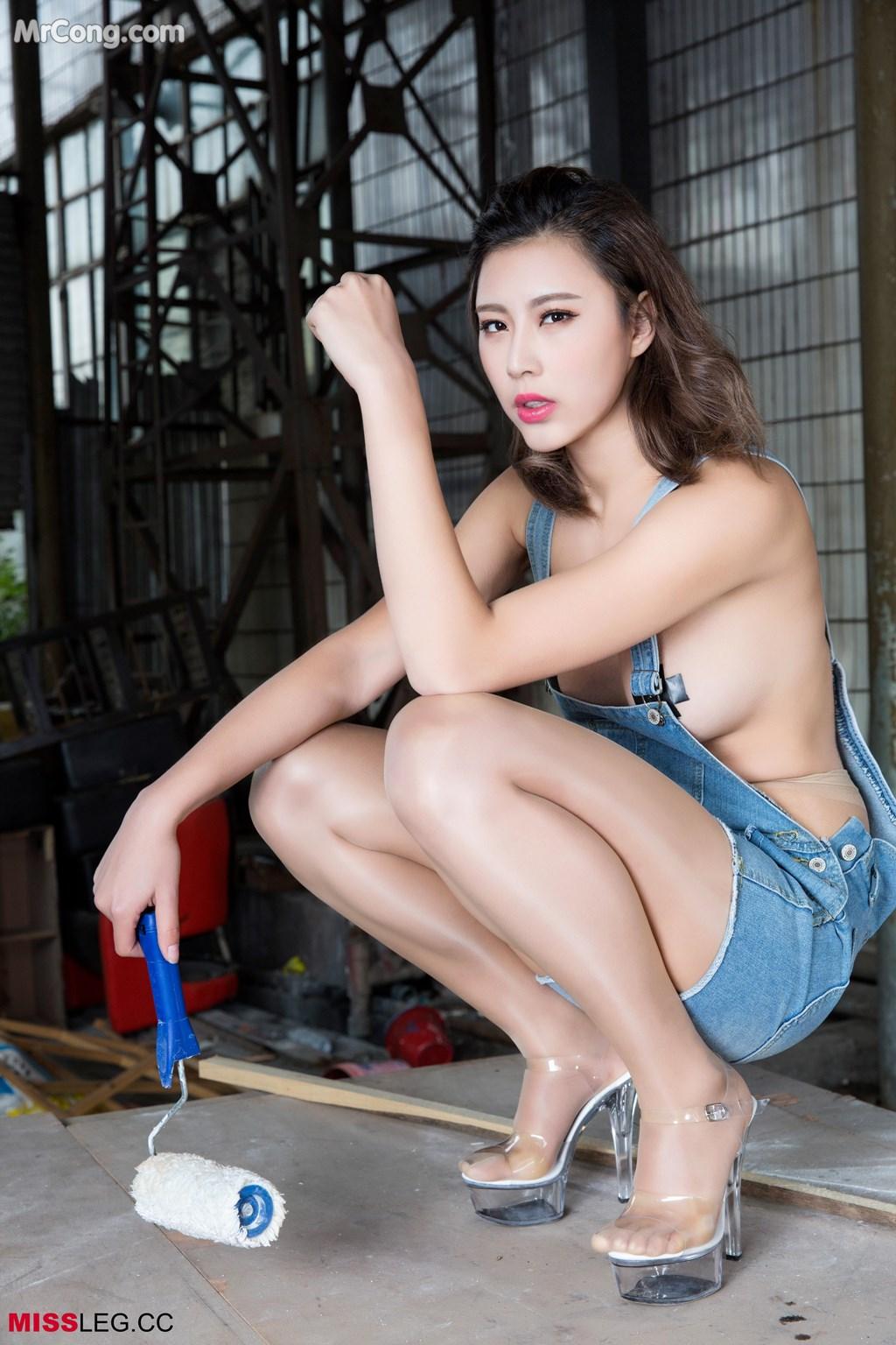Image MISSLEG-2017-03-29-Vol.005-Yao-Yao-MrCong.com-003 in post MISSLEG 2017-03-29 Vol.005: Người mẫu Yao Yao (瑶瑶) (15 ảnh + 1 video)