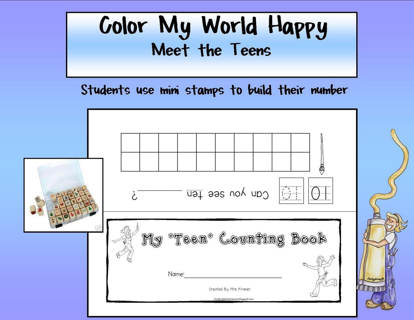 Kindergarten Crayons June