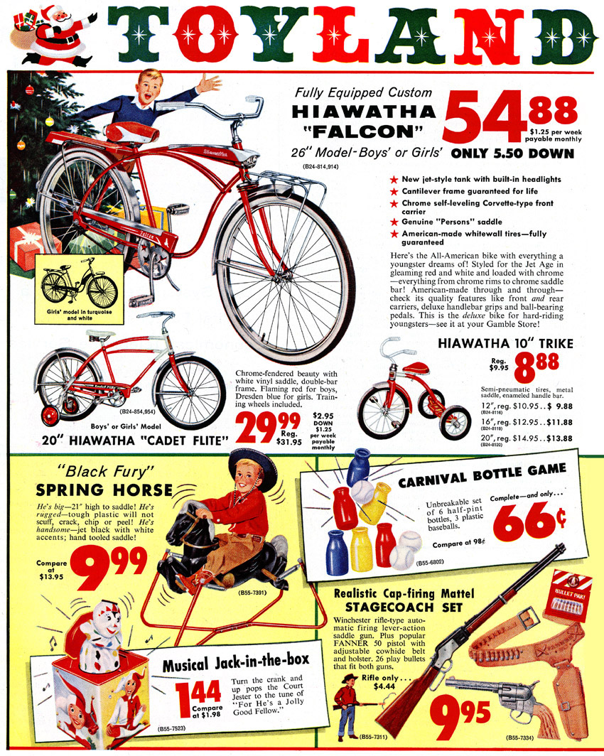 Vintage christmas ads in the 50s