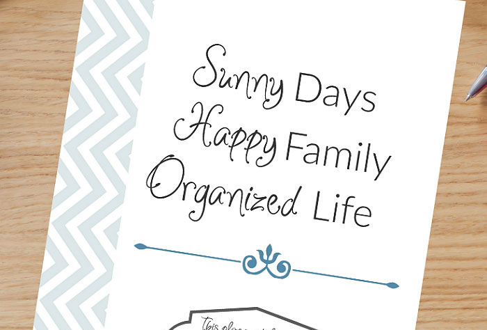 Organize your life with a home organization binder.