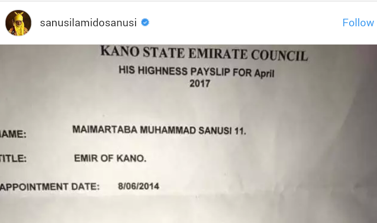 Photo: Emir Sanusi shares his payslip for April 2017 - TellForce Blog
