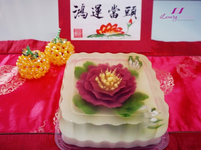 lunar new year pretty 3d jelly art flowers