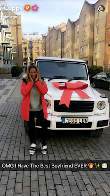 FEMI OTEDOLA'S DAUGHTER DJ CUPPY GETS A G-WAGON FROM HER BOYFRIEND FOR HER BIRTHDAY