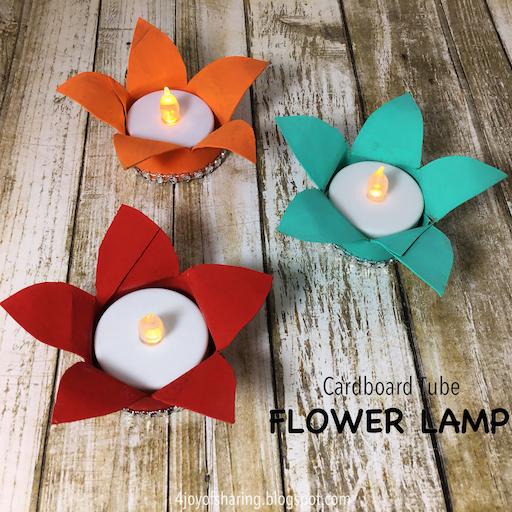 The joy of sharing flower lamp craft for Cardboard tube flowers