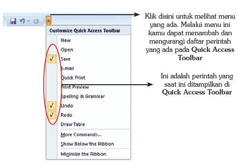 Customize Quick Acces Toolbar