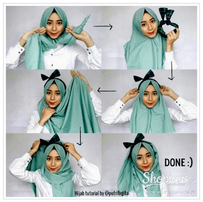 Tutorial Hijab Katun Ima Scarf Pashmina Gaya Simple Masa Kini