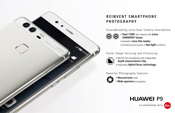Huawei P9 and Plus' Dual Lens Camera