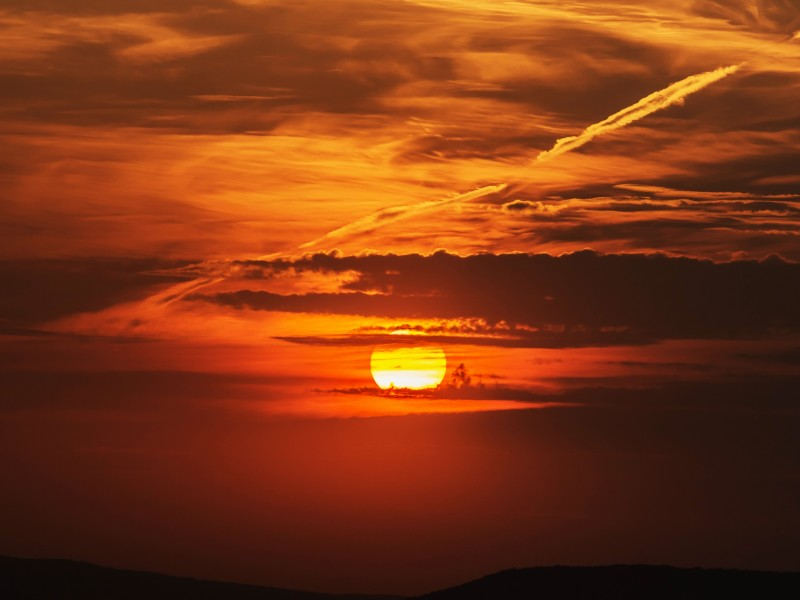 Download Orange Sky before Nightfall HD wallpaper. Click Visit page Button for More Images.