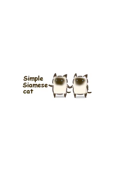 Simple Siamese cat.