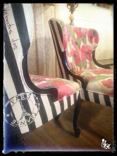 How to paint old fabric furniture for makeover