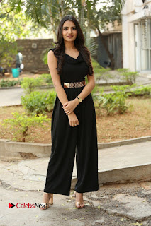 Telugu Actress Rukhsar Mir Stills in Black Long Dress at Aakatayi Movie First Look Launch  0109.JPG